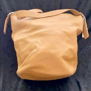 Cream Leather Coach Hobo
